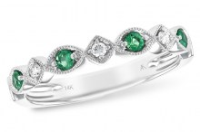 140-10089 emerald and diam ring Allison Kaufman