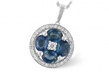 442-10031 Sapphire and diamond neck Allison Kaufman