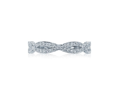 18k White Gold Ribbon Diamond Band Style Number 125 10024